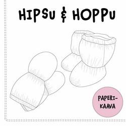 Paperikaava, Vauvan tumput ja töppöset Hipsu ja Hoppu 0-10 kk