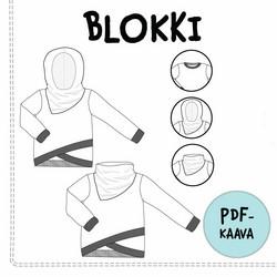 PDF-kaava, Blokki pusero 92-158 cm