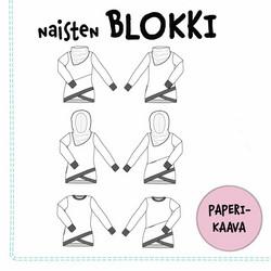 Paperikaava, Naisten Blokki pusero 32-54