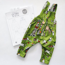 Paperikaava, Lunki haalarihousut, 50-110 cm