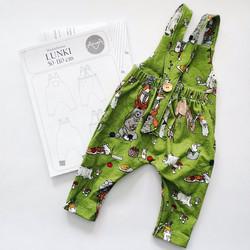 PDF-kaava, Lunki haalarihousut, 50-110 cm