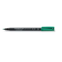 Staedtler Lumocolor 313 huopakynä 0,4mm permanent vihreä 10kpl