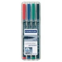 Staedtler Lumocolor 313 huopakynä 0,4mm permanent värilajitelma, 1 kpl=4 kynää