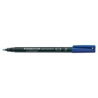 Staedtler Lumocolor 318 huopakynä 0,6mm permanent sininen 10kpl
