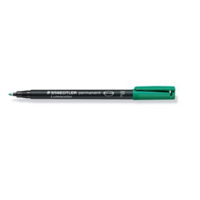 Staedtler Lumocolor 318 huopakynä 0,6mm permanent vihreä 10kpl