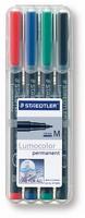 Piirtoheitinkynä Staedtler Lumocolor 317 medium 1 mm 4 väriä/pkt