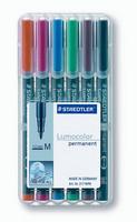 Staedtler Lumocolor ''one for all'' piirtoheitinkynä6 väriä/pkt