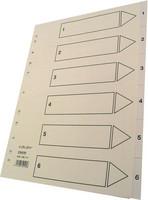 Hakemisto Talex 1-6 A4 valkoinen kartonki