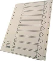 Hakemisto Talex 1-10 A4 valkoinen kartonki
