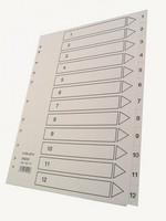 Hakemisto Talex 1-12 A4 valkoinen kartonki