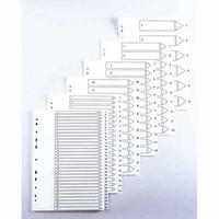 Hakemisto Talex 1-10 A4 valkoinen muovi