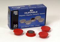Magneetti 475203 21mm punainen, 1 kpl=20 magneettia