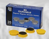 Magneetti 475204 21mm keltainen, 1 kpl=20 magneettia