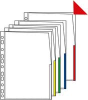 Signaalitasku A4 PP app 0.17 punainen 100/laatikko