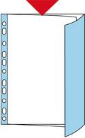 Patenttitasku A4 PP läppä sininen 100/laatikko