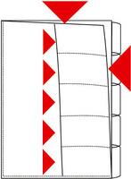 Lajittelutasku 5-osainen A4 PP kirkas