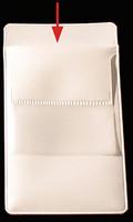 Kynätasku rintataskuun valkoinen + tasku nimikortille 83 x 150mm kirkas
