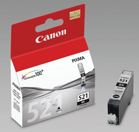 Canon CLI-521BK Mustesuihkupatruuna musta