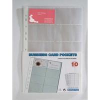 Käyntikorttitasku A4 208 x 304 mm, kirkas, 1 kpl = 10 taskua