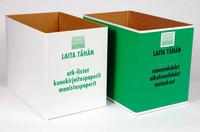Paperinkeräyslaatikko pahvia valkoinen