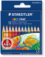 Staedtler Noris Club 144 puuvärikynä lyhyt värilajitelma, 1 kpl=12 kynää