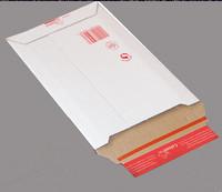 Kartonkikirjepussi A4 235x310x30 valkoinen