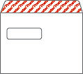 Kirjekuori STE5 3090 valkoinen tarra 25kpl/nippu