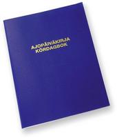 Ajopäiväkirja sidottu 184 A6A 32 sivua