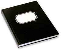 Konttorikirja A4/288 sidottu musta 7x7mm