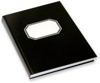 Konttorikirja sidonta A4/288 8mm viivoilla musta