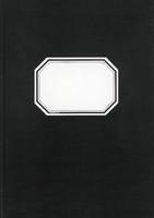 Konttorikirja B5 288 sivua 7x7 musta ruudutettu