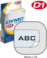Tarrakasetti Dymo 45010 12mm kirkas/musta