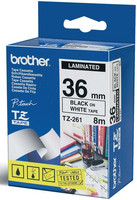 Brother teippi TZ-261 36mmx8m musta/valkoinen
