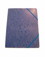 Kulmalukkokansio läpätön sininen 105