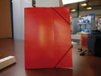 Kulmalukkokansio A4, punainen, 10 kpl