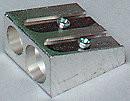 Perusteroitin 2-reikäinen metallia