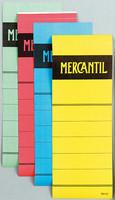 Mercantil mappietiketti 70mm, keltainen