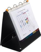 Flippikansio A4 kierrätetty PP 25 kirkasta taskua musta