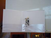 Projektimappi 7 cm mappimekanismi valkoinen