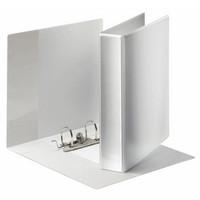 Projektimappi 5cm, valkoinen, kirkas tasku kansissa ja selässä