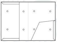 Sisäisen postin kansio TA 1100 kulmatasku A4, vaaleaa kartonkia