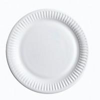 Kartonki lautanen matala valkoinen 23 cm 50/paketti