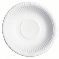 Kartonkilautanen syvä valkoinen 20 cm 50/paketti