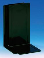 Kirjatuki metallinen24 cm musta 2kpl/pkt