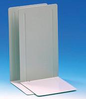 Kirjatuki metallinen 24 cm valkoinen 2/pkt