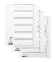 Hakemisto Q-Connect A4 12-osainen blanco kartonki valkoinen