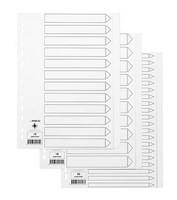 Hakemisto Q-Connect A4 20-osainen blanco kartonki valkoinen