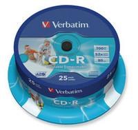 Verbatim CD-R 80min 700MB 52x tulostettava spindle, 1 kpl=25 levyä