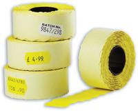 Hinnoittelukoneen etiketti 26x12 keltainen irtoava