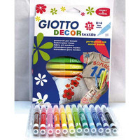 Giotto tekstiilitussi värilajitelma 12 kpl / paketti